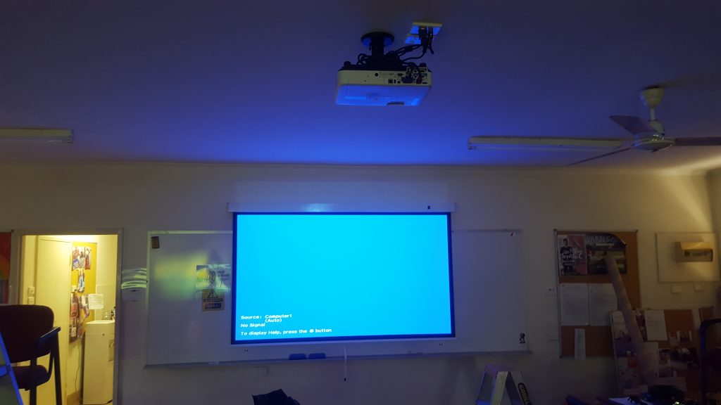 Epson Data Projector at a local training centre