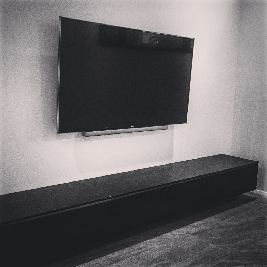 New home Wall mounted TV with PGM Constructions