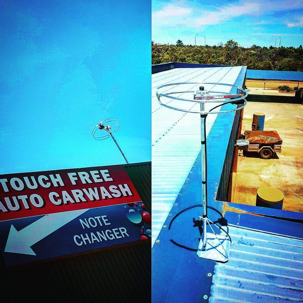 Radio antenna at the Broome Carwash
