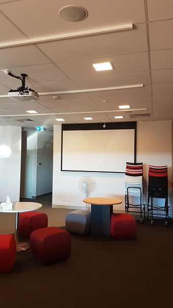 In ceiling Projector system with Epson Data Projector