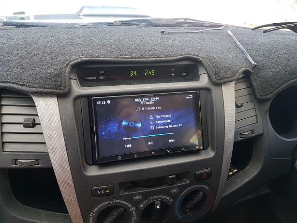 Alpine Upgrade in a 2014 Hilux