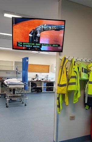RFDS Airport Hangar Hospital TV install